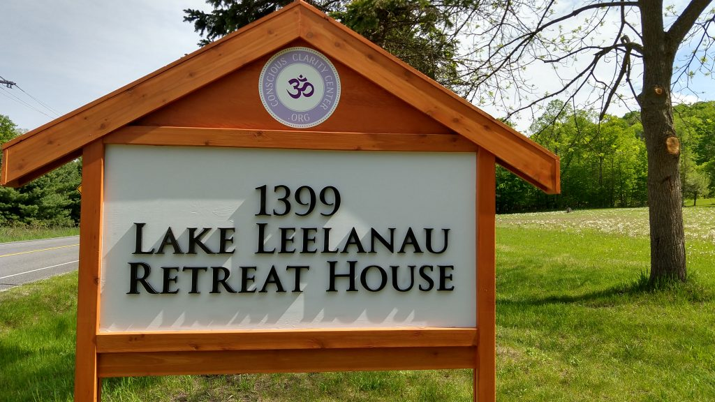 Lake Leelanau Retreat House Road Sign
